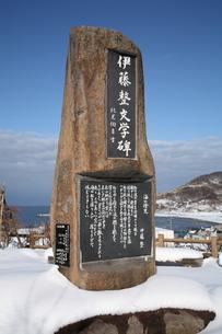 伊藤整文学碑の写真素材 [FYI00090796]