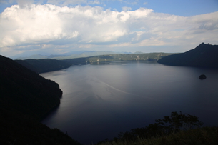 摩周湖夕景の写真素材 [FYI00090824]