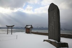 江差追分記念碑の写真素材 [FYI00090888]