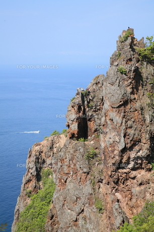 赤岩海岸の絶壁の素材 [FYI00091183]