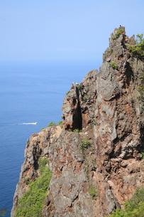 赤岩海岸の絶壁の写真素材 [FYI00091183]