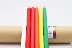 暖色系の色鉛筆1の写真素材 [FYI00091519]