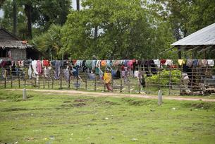 カンボジアの洗濯物の写真素材 [FYI00091899]