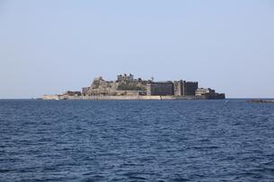 軍艦島上陸ツアーの写真素材 [FYI00091910]