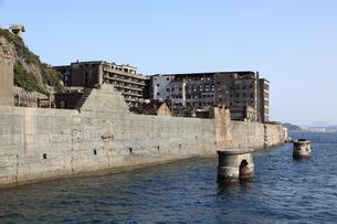 軍艦島上陸ツアーの写真素材 [FYI00091913]