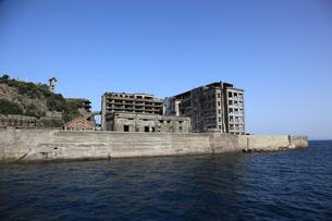 軍艦島上陸ツアーの写真素材 [FYI00091916]