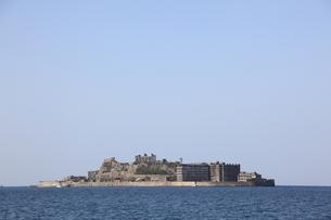 軍艦島上陸ツアーの写真素材 [FYI00091921]