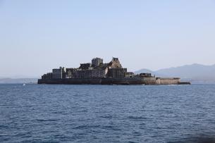軍艦島上陸ツアーの写真素材 [FYI00091925]