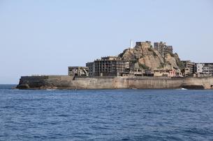 軍艦島上陸ツアーの写真素材 [FYI00091926]