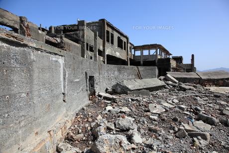 軍艦島上陸ツアーの写真素材 [FYI00091937]