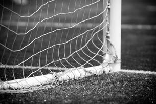 ゴール裏から見たサッカー場の写真素材 [FYI00092177]