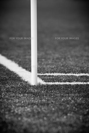 サッカー場のコーナーの写真素材 [FYI00092178]