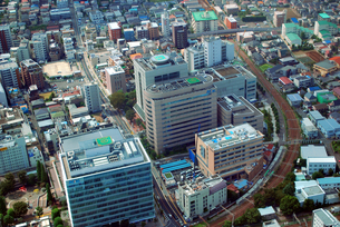 東京都調布市小島町の空撮の写真素材 [FYI00092326]