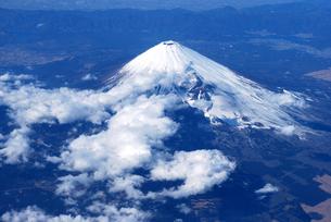 冬の富士山遠望の写真素材 [FYI00092345]