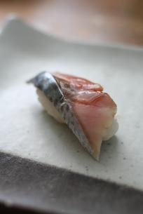 サバの握り寿司の写真素材 [FYI00092430]
