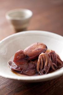 イカの煮物と日本酒の素材 [FYI00092885]