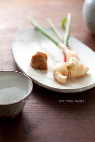 葉付きショウガと日本酒の素材 [FYI00093196]