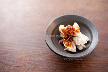 蒸し鶏の食べるラー油掛けの素材 [FYI00093367]