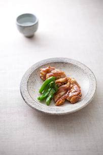 鶏の照り焼きと日本酒の素材 [FYI00093512]