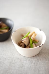ゴボウと椎茸の煮物の写真素材 [FYI00093567]