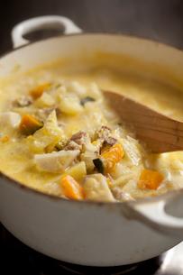 鍋とスープの写真素材 [FYI00093643]