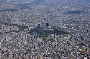 大阪城方面空撮の写真素材 [FYI00094072]