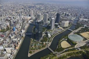 大阪ビジネスパーク空撮の写真素材 [FYI00094129]