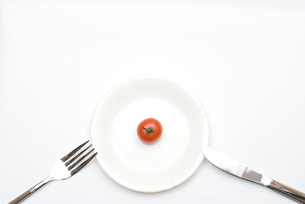 皿の上のミニトマトの写真素材 [FYI00094174]