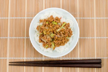 納豆ご飯の写真素材 [FYI00095313]
