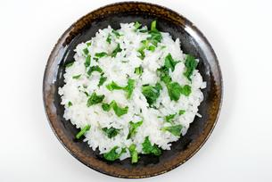 菜飯・天目皿盛りの写真素材 [FYI00095449]