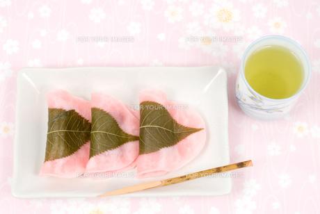 長命寺桜餅(江戸風桜餅)の素材 [FYI00095482]