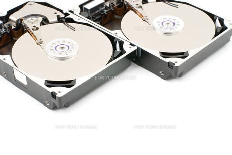 開封したハードディスクの写真素材 [FYI00095699]