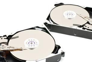 開封したハードディスクの写真素材 [FYI00095700]