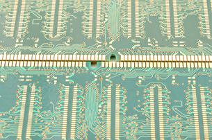 コンピューターのメモリのプリント配線の写真素材 [FYI00096254]