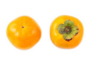 甘柿の実の上と下の写真素材 [FYI00096758]