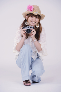 カメラ女子の写真素材 [FYI00097926]