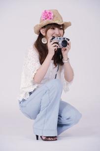 カメラ女子の写真素材 [FYI00097932]
