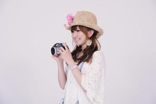 カメラ女子の写真素材 [FYI00097945]
