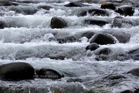 小駄良川の早瀬の写真素材 [FYI00098791]