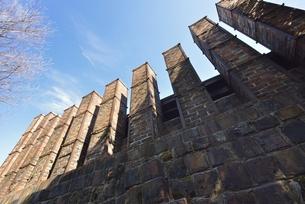 常滑の風景(登窯の煙突)の写真素材 [FYI00099072]