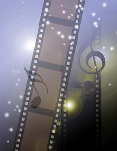 音楽とフィルムの写真素材 [FYI00099243]