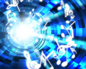光と音楽の写真素材 [FYI00099293]