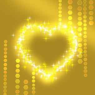 ゴールドなバレンタインの写真素材 [FYI00099308]
