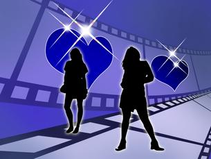 女性とフィルムの写真素材 [FYI00099324]