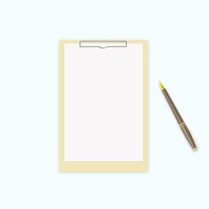 クリップとボールペンの写真素材 [FYI00099334]
