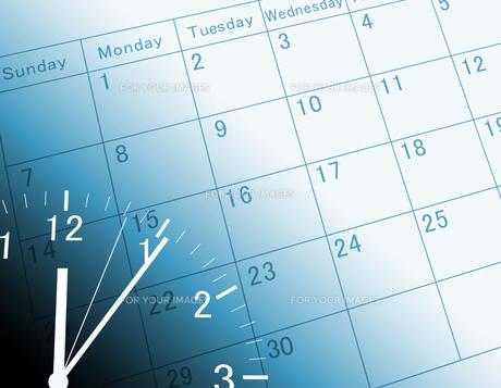 カレンダーと時計の素材 [FYI00099435]