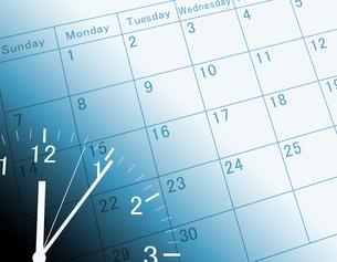 カレンダーと時計の写真素材 [FYI00099435]