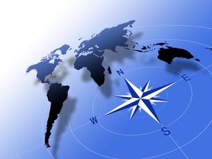 世界地図とコンパスの写真素材 [FYI00099455]