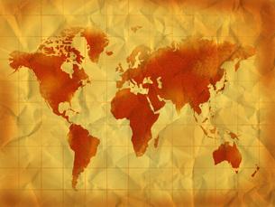 古い世界地図の写真素材 [FYI00099504]