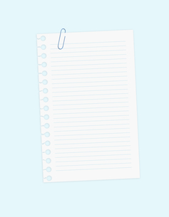 ノートとクリップの写真素材 [FYI00099506]